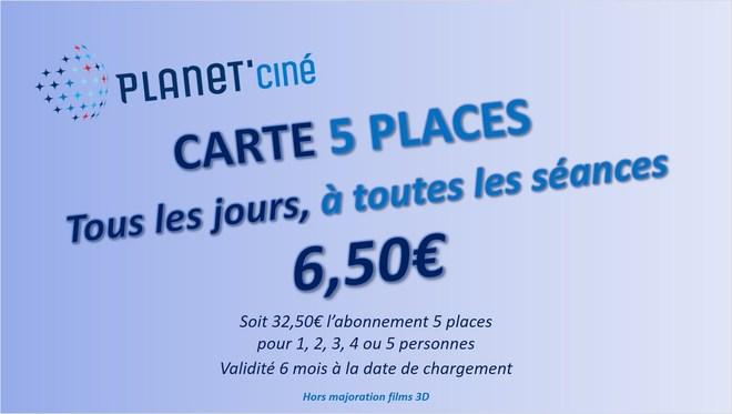 6.50 € la place